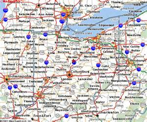 map eastern us mapquest map of ohio