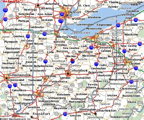 State Of Ohio Address Finder Map Of Ohio