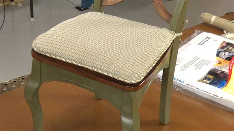 how to make a seat cushion for a bench how to make your own chair pad cushions youtube