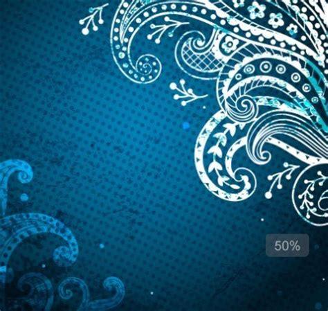 Undangan Flower 04 free blue floral patterns background vector 04