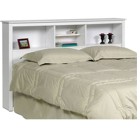 full white headboard prepac sonoma double queen bookcase headboard white