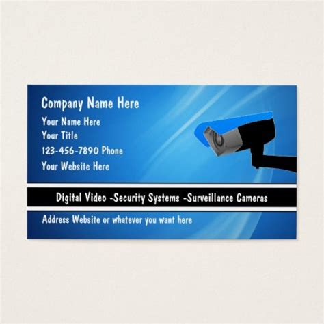 Security Systems Business Card Template by 191 Best Security Business Cards Images On