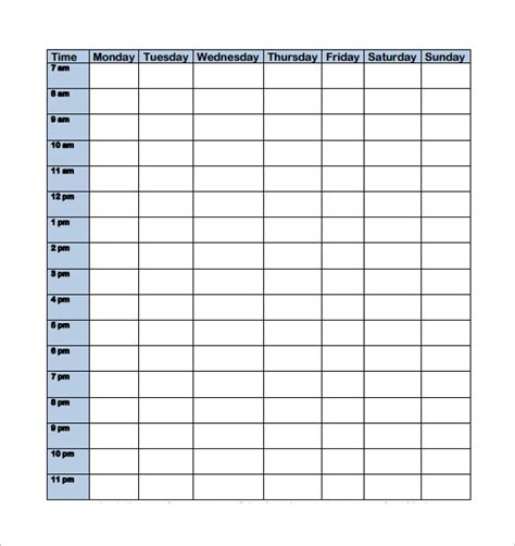 college schedule template 9 download free documents in pdf