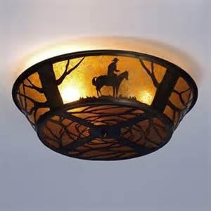 western ceiling light fixtures meyda custom 81572 3 light western flush mount