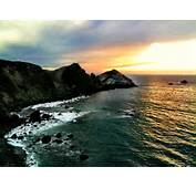 Setting Sun In Big Sur On Our Way Down The Coast To LA From SF 1/2