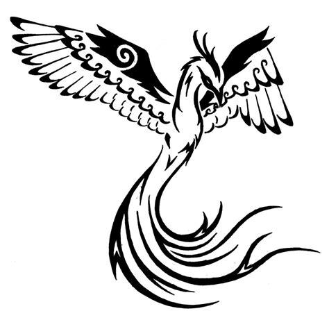 phoenix tattoo design simple tribal phoenix 2 by onlyono on deviantart