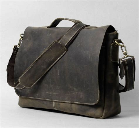 Handmade Messenger Bag - handmade vintage leather briefcase leather messenger bag