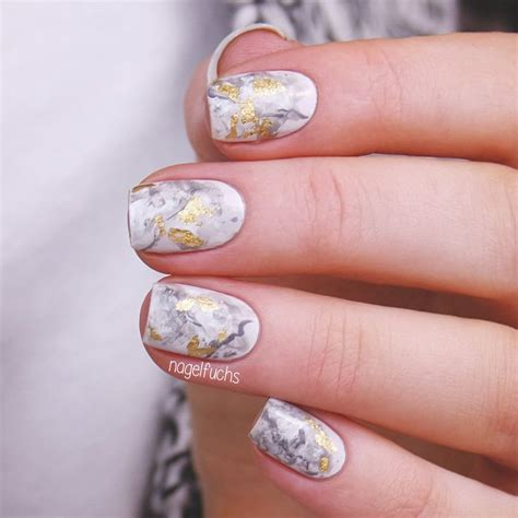 easy nail art designs marble nailpolis museum of nail art golden marble by nagelfuchs