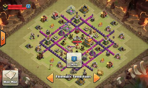 layout coc war base anti naga coc base war th 7 anti dragon naga terkuat menggunakan