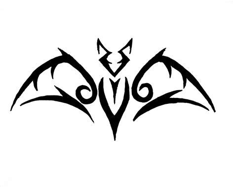 tribal army tattoos simple tribal bat motif ideas