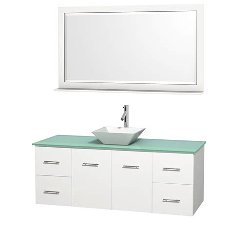 wyndham bathroom vanities wyndham collection wcvw00960swhggd2wm58 centra 60 inch single bathroom vanity in white green