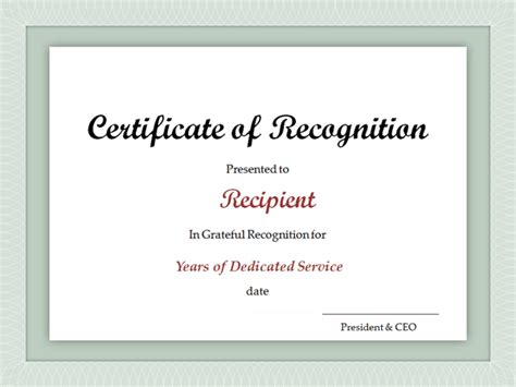 Service Award Certificate Template Years Of Service Certificate Template Free