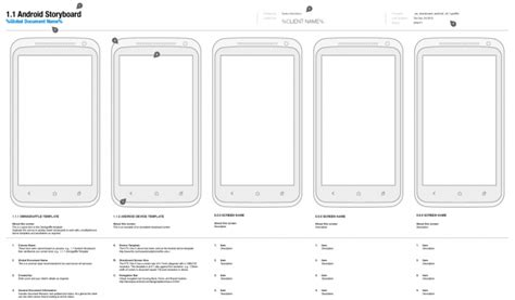 storyboard template app omnigraffle android storyboard template ui