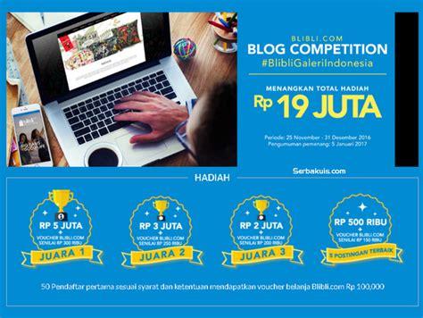 blibli undian lomba blog blibli galeri indonesia