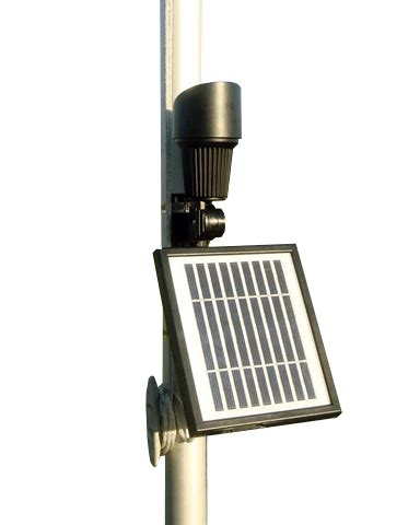 Solar Powered Topper Flag Light Libertyflagpoles Solar Powered Flagpole Light Commercial Grade