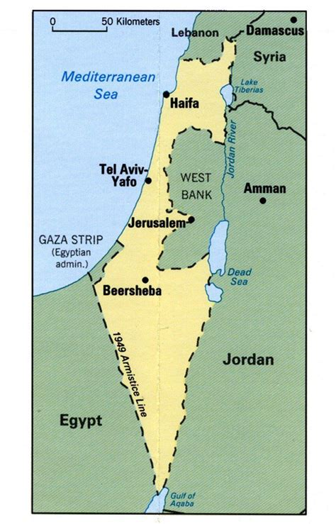 map of isreal israel
