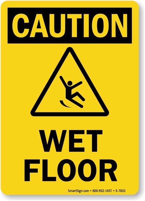 Wet Floor Caution Sign Ships Fast   Sku
