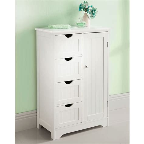 Bathroom Storage Units Free Standing White Wooden Bathroom Cabinet Shelf Cupboard Bedroom Storage Unit Free Standing