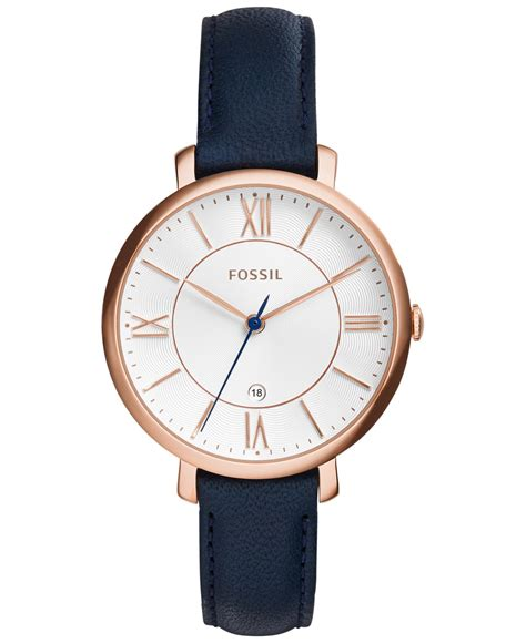 3 Second Accessories Blue fossil s jacqueline blue leather 36mm