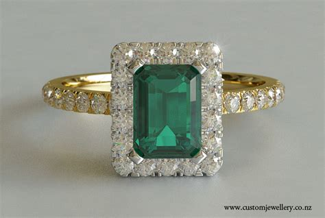 emerald cut emerald solitaire engagement ring yellow gold