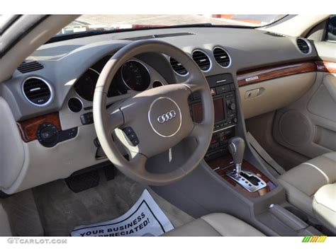 2006 Audi A4 Interior by Beige Interior 2006 Audi A4 3 0 Quattro Cabriolet Photo