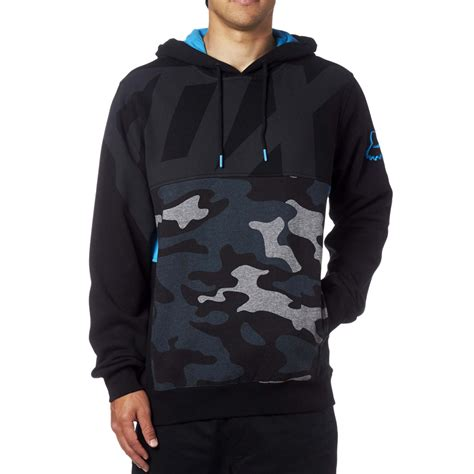 fox racing kaos pullover fleece black sixstar racing