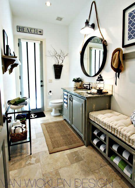 beach house bathroom mirrors round bathroom mirror and industrial lighting beach