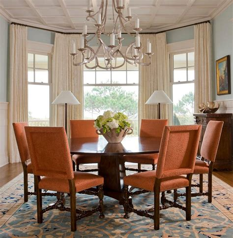 dining room window bay window curtains ideas for privacy and beauty