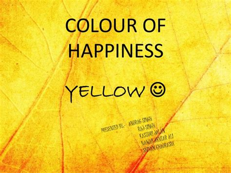 color of happiness yellow