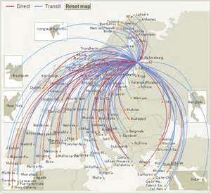 Norwegian Airlines Route Map by Norwegian Air Shuttle Route Map From Helsinki