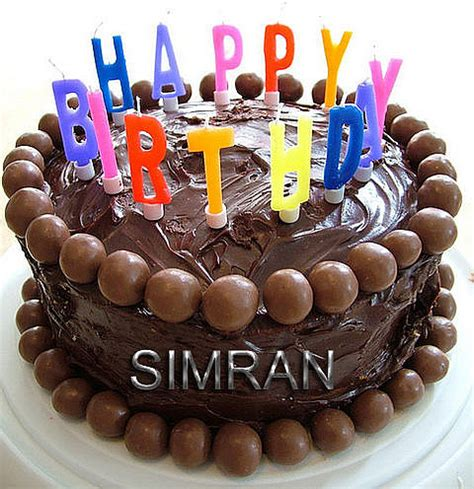 latest happy birthday simran cake images wallpaper sms quotes wishes