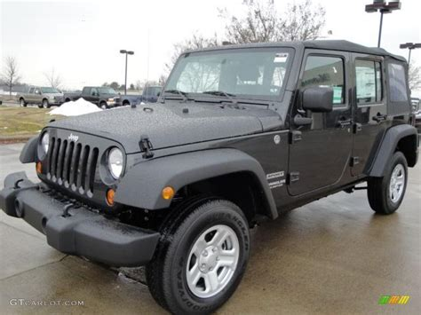 dark gray jeep wrangler 2010 dark charcoal pearl jeep wrangler unlimited sport 4x4