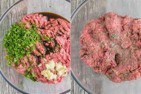 garlic and herb burger recipe natashaskitchen com
