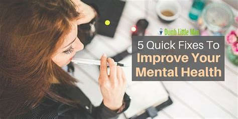 wellness feel good and improve your health msn health 5 quick fixes to improve your mental health