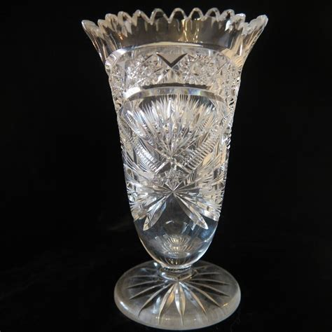 Bohemia Lead Vase by Bohemian Lead Vase Dated At The Turn Of The 20th