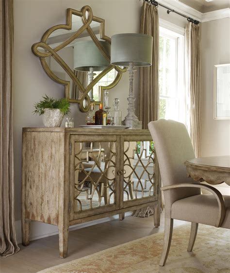 sanctuary two door mirrored console by furniture