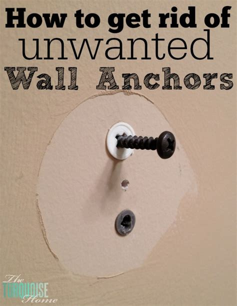 how to remove a wall quick tip how to get rid of unwanted dry wall anchors