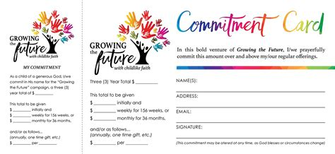 Stewardship Commitment Card Template by Sle Stewardship Pledge Cards