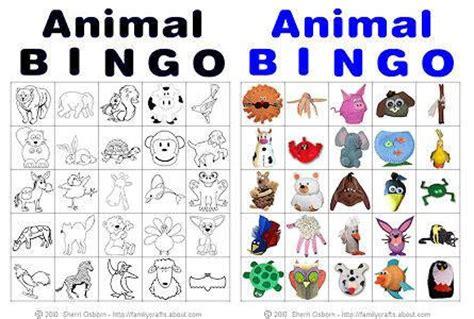 printable zoo animal bingo cards bingo and dieren on pinterest