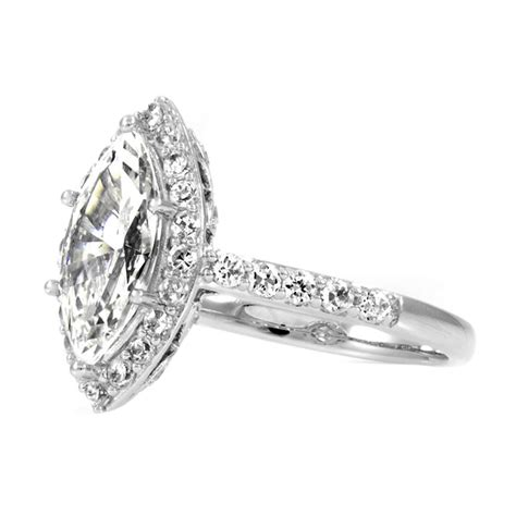 Marquise Engagement Ring by Marquise Cubic Zirconia Engagement Rings