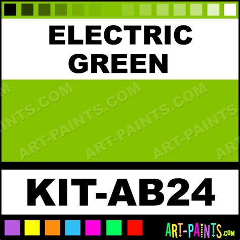electric green advanced airbrush spray paints kit ab24 electric green paint electric green