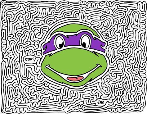 printable turtle maze image gallery ninja maze
