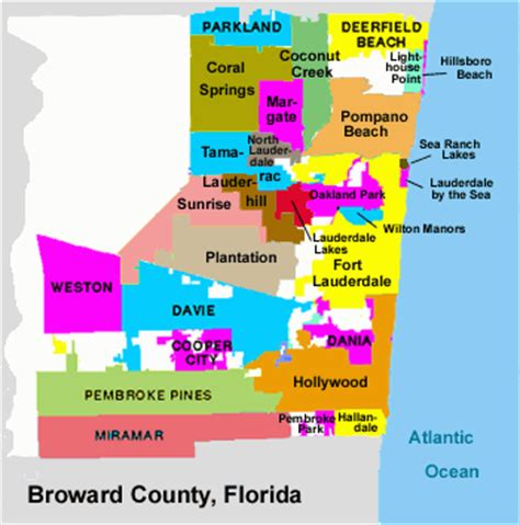 where is broward county in florida on a map broward county fl