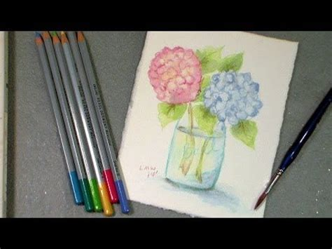tutorial on using watercolor pencils the frugal crafter watercolor tutorials on youtube