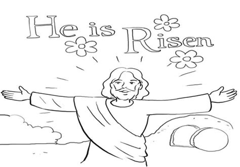preschool coloring pages about jesus has risen jesus is risen coloring pages he in resurrection page