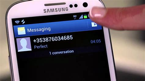 samsung galaxy siii reading and writing text messages