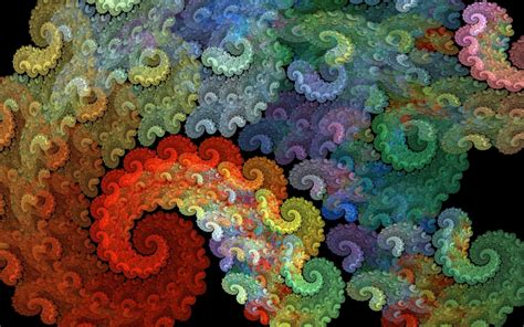 wallpaper fractals colorful hd abstract
