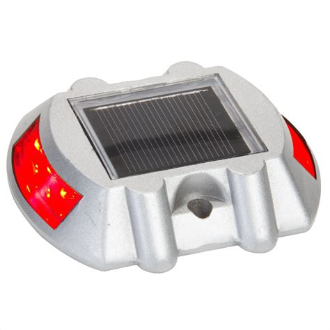 Low Profile Solar Led Red Boat Dock Light Boat Solar Lights