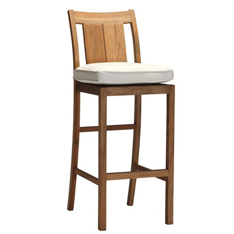 teak wood bar stools croquet teak bar stool by summer classics family leisure