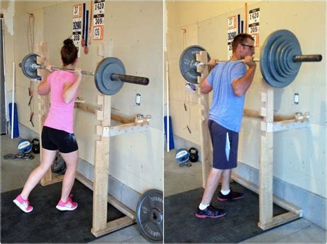 diy squat rack and pull up bar crossfit garagegym diy